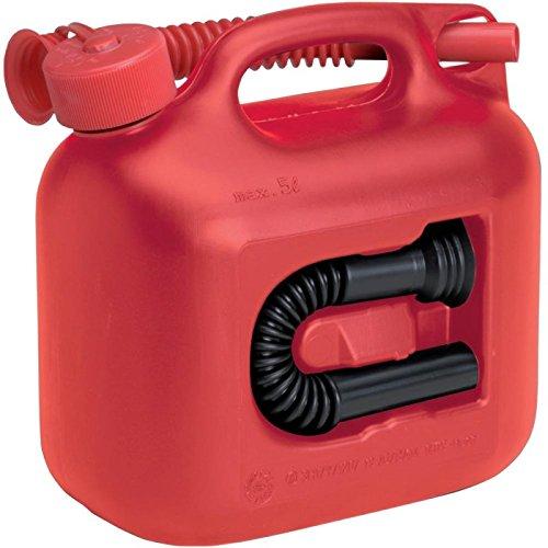 Preisvergleich Produktbild Kraftstoff-Kanister PREMIUM 5l für Benzin, Diesel und andere Gefahrgüter, UN-Zulassung, made in Germany, TÜV-geprüfter Produktion, rot
