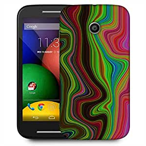Snoogg Lava Movement 2396 Designer Protective Phone Back Case Cover For Motorola E / Moto E