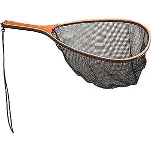 Frabill wood handle mesh netting fish landing net amazon for Amazon fishing net