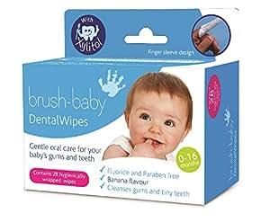 BRUSH BABY Pack de 28 Lingettes Dentaires