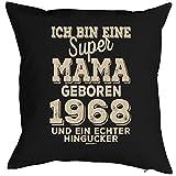 Veri Zum 50. Geburtstag Mama Geschenk für Sie Frau Deko Kissenbezug Mama Hingucker Aufdruck Jahrgang Geboren 1968 Jahre Alt Kissenhülle 40x40 cm :