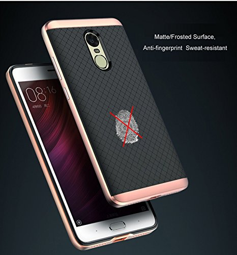 low priced 26071 255ed For XIAOMI MI REDMI NOTE 4 WOW Imagine™ Luxury Ultra-Thin Dual Layer Dotted  Bumper Back Case Cover For XIAOMI MI REDMI NOTE 4 - Rose Gold