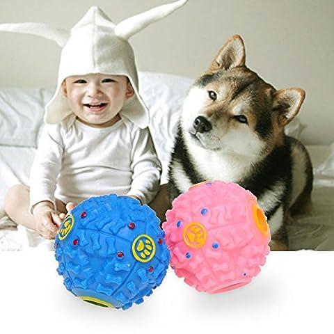 Balle Boule Sonore Distributeur Croquette Nourriture Jouet Boule de jouet pour Chien Animaux -couleur aleatoire--L size
