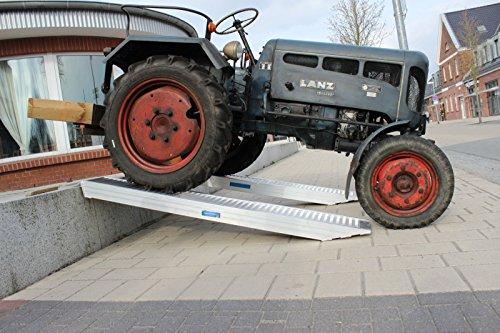 1 Stück Profi Alu Auffahrrampe ca. 212 cm Verladerampe Auto Pkw Anhänger 3310 kg/Paar TrutzHolm® by Baumarktplus