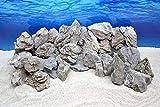 Pro Stein Aquarium Deko Natursteine Seiryu grau 300-700 g Felsen Nr.67 Rückwand Pagode Dekoration Aquascaping