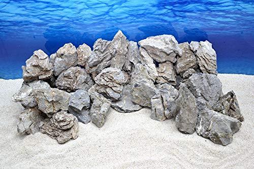 Pro Kiste Aquarium Deko Natursteine Seiryu grau 300-700 g Felsen Nr.67 Rückwand Pagode Dekoration Aquascaping