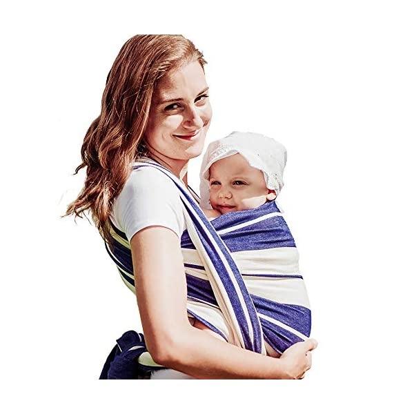 Didymos Baby Wrap Sling (Size 5, Standard Blue) Didymos Various carrying positions, in front, sideways an on the back Special, diagonally stretchable cloth to give optimal support Holds your baby in the atomically correct posture 1