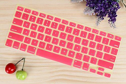MacBook Pro Tastatur, Crazy Panda Premium Ultra Dünn TPU Tastatur Schutzfolie Cover Haut für iMac und MacBook Pro 33cm 38,1cm 43,2cm und MacBook Air 33cm und iMac Drahtlose Tastatur, Rose