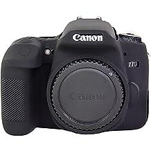 Housse en caoutchouc protecteur en silicone pour housse pour caméra Canon EOS 77D noir