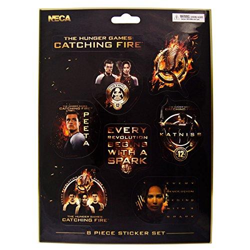 The Hunger Games 8 Stickers Set (Mehrfabig) (Hunger Games Dekorationen)