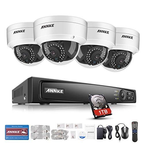 ANNKE 1080P 4CH POE NVR Vigilancia Sistema con 4x 2.0MP Interiores /...