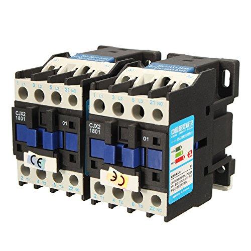 DyNamic Cjx2-1801 Ac 220V/380V 18A Contactor Motor Starter Relay 3 Pole+1Nc Coil 4Kw 7.5Kw - 380v -