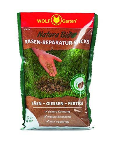 WOLF-Garten Saatgut, Natura Bio – R-RS 4 Rasen-Reparatur-Sticks für 4 m²,  3837004
