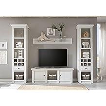 ... Medienwand, TV Wohnwand, Schrank, Regal, Low Board, Wandboard,  Schrankkombination, Landhaus, Aufbewahrung, Wohnzimmerwand, Wohnzimmer,  Phono Möbel, ...