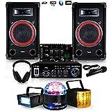 Pack Sono 100W RMS DJ für Einsteiger 11-15Jahre dj-player 2+ Pack-Lichtspiel lytor LED