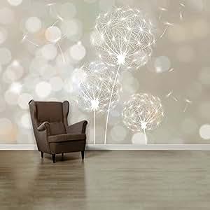 fototapete blown dandelion 107 39 366cm x 254cm pusteblume blume pflanze wand dekoration tapete. Black Bedroom Furniture Sets. Home Design Ideas