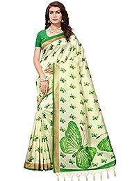 Saree Mall Art Silk Saree For Women (Cream_Sarees Below 500 Rupees_Apha1002_Free Size)