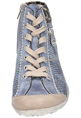 Rieker L6506 Damen Kurzschaft Stiefel Blau