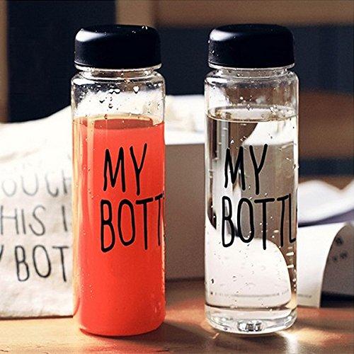Bluelover La mia bottiglia Fashion Sport frutta limone succo bottiglia bottiglia di acqua trasparente - Policarbonato Bottiglia Di Acqua