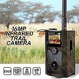 ZYSMC Wildlife Trail Camera,3G Wilde Tierverfolgungskamera 1080P 940NM Aufklärungsinfrarot-Belastung 16MP MMS GPRS