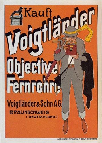 Vintage Photography Voigtländer Ziel Fernrohre Deutschland, 1905. 50gsm, Hochglanz, A3, vervielfältigtes Poster (Zielfernrohre Deutsche)