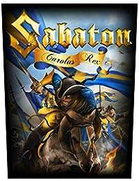 Sabaton Backpatch Carolus Rex Sabaton R/ückenaufn/äher