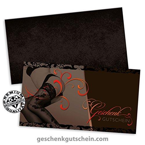 """10 Stk. Gutscheinkarten """"Standard"""" + 10 Stk. Kuverts für Mode, Dessous, Reizwäsche FA1240, LIEFERZEIT 2 bis 4 Werktage ! (Knapp Umschlag)"""