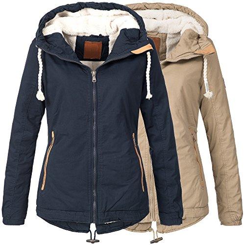 BOL Damen Winterjacke Parka Winter Jacke innen Teddyfell warm 15625 S-XXL 2Farben