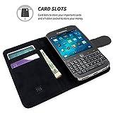 TheSnugg B00TSJ2T6W 8,89 cm (3,5 Zoll) Folio schwarz - Handyhüllen (Folie, BlackBerry, BlackBerry Classic, 8,89 cm (3,5 Zoll), schwarz)