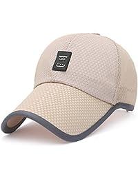 MAOCAP Sombrero de Verano Hombre de Malla de Secado rápido Casquillo Gorra  de béisbol del Visera del Visera de Sol Sombrero de la Pesca… 93def4142cc