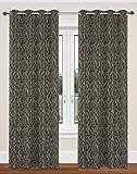 LJ Home Fashions, AST/Natur Inspiriert Design Delta Ring Top/Ösen Vorhang, Taupe/Schwarz, 132x 241cm, 2-teilig