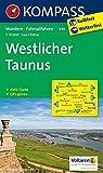 Westlicher Taunus 1 : 50 000: Wandelkaart 1:50 000 (KOMPASS-Wanderkarten, Band 839) -