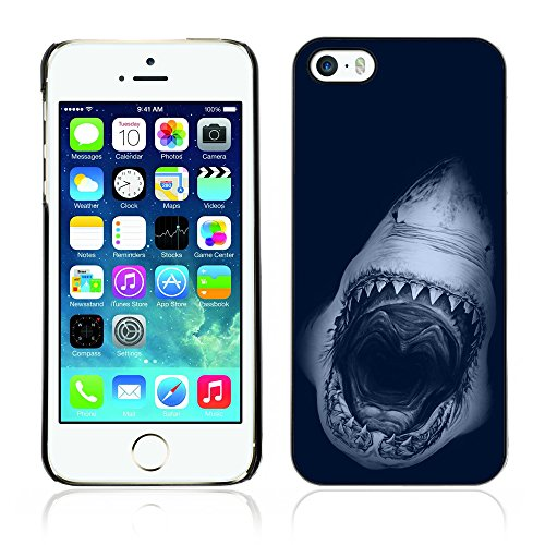 Graphic4You Hai Tier Design Harte Hülle Case Tasche Schutzhülle für Apple iPhone 5 und 5S Design #2