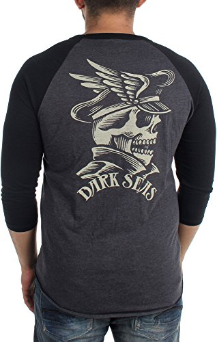 Dark Seas - Herren Prince Of The Sea II Longsleeve Raglan Charcoal