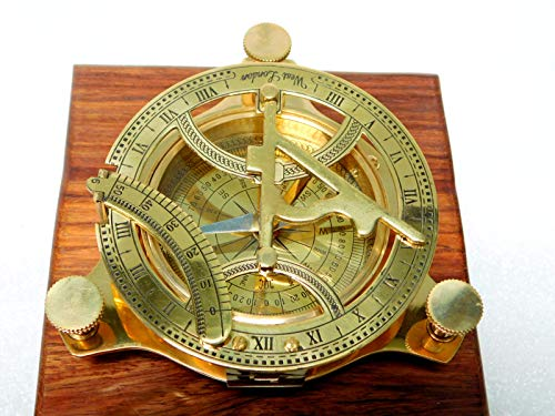 Bussola con meridiana ottone 102 completamente funzionale bussola dantiquariato