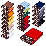 Topper Spannbettlaken/Laken F. BOXSPRINGBETT-Topper - 100% Feinste Mako-Baumwolle - 19 Farben - Sehr Gute ca. 170 g/m² (180x200-200x220 kirschrot 10)