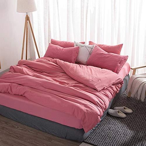 Bettbezug Queen Size Bettwäsche Set Hochwertige Bettdecke King Size Ab Pink2 200x230cm