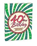 'RetroCo Manschettenkn�pfe 40. Geburtstag Retro Memorabilia Collection Geschenk-Box�-�Spirale