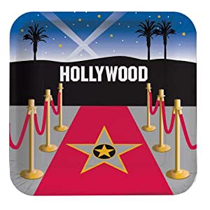 Creative Conversion Bobine Hollywood carré Assiettes Plates, 8-count