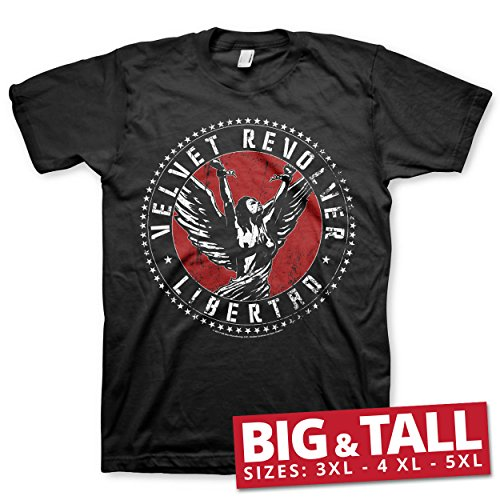 Velvet Revolver Officially Licensed Libertad Big & Tall 3XL,4XL,5XL Men's T-Shirt (Black)