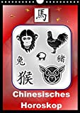 Chinesisches Horoskop (Wandkalender 2020 DIN A4 hoch): Die zwölf Tierkreiszeichen der Chinesischen Astrologie (Monatskalender, 14 Seiten ) (CALVENDO Glaube)