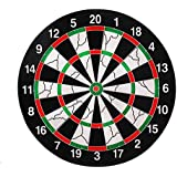 FunBlast™ Flocking Thickened Dartboard Board Game For Kids ,Double Sided Dart Board With 4 Dart Needles, Size- 12 Inches