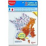 Maped - Gabarit carte de France, contenu: 2 pices