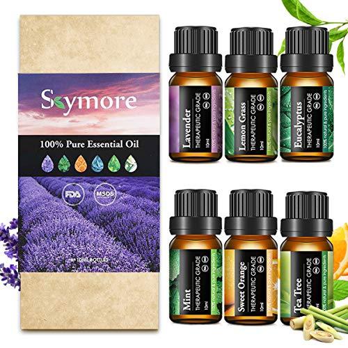 Skymore Set 6x10 ml di Oli Essenziali Puri, per Diffusori di Umidificato