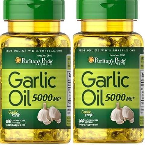 Aglio olio 5000 mg 100 capsule molli. (Pack