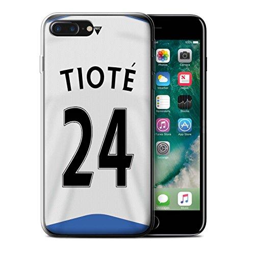 Officiel Newcastle United FC Coque / Etui Gel TPU pour Apple iPhone 7 Plus / Obertan Design / NUFC Maillot Domicile 15/16 Collection Tioté