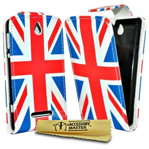 Accessory Master Schutzhülle für Huawei Ascend Y300, Leder, Motiv UK-Flagge