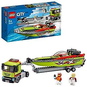 LEGO - City Great Vehicles Trasportatore di Motoscafi con 2 Minifigure, Set di Costruzioni per Inventare Tante Storie… 99, months LEGO