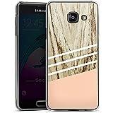 Samsung Galaxy A3 (2016) Housse Étui Protection Coque Look bois Pastel Printemps