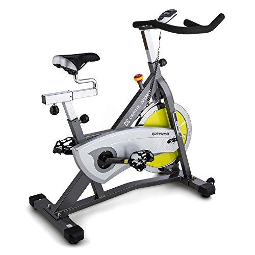CAPITAL SPORTS Spinnado • Ergobike • Spinbike • Heimtrainer • Cardio-bike • Trainingscomputer mit LCD-Display • 18kg Schwungrad für den Widerstand • horizontal und vertikal verstellbarer Sattel • verstellbarer Lenker • belastbar bis 125 kg • silber
